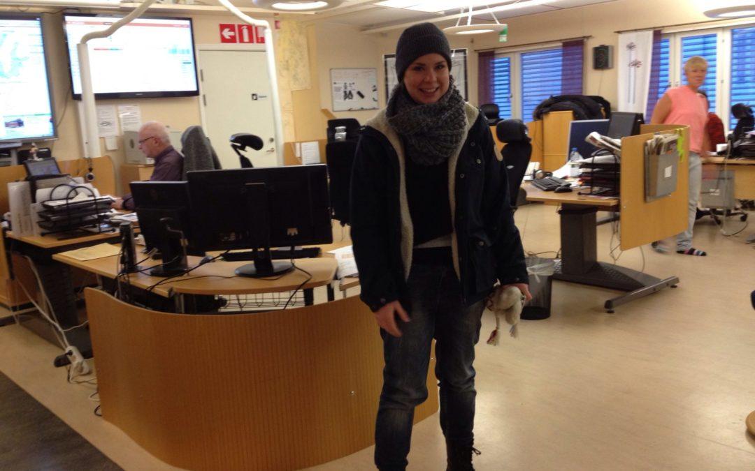 Halvlek – nu kör vi på riktigt. Följ Evelinas praktik på Sörmlands Nyheter