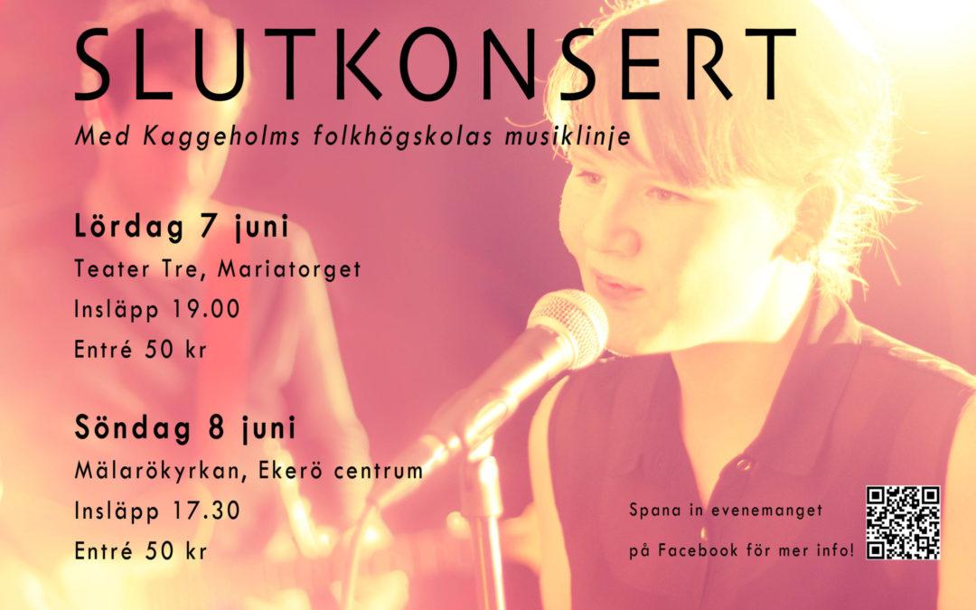 Slutkonsert med Musiklinjen 7 och 8 juni