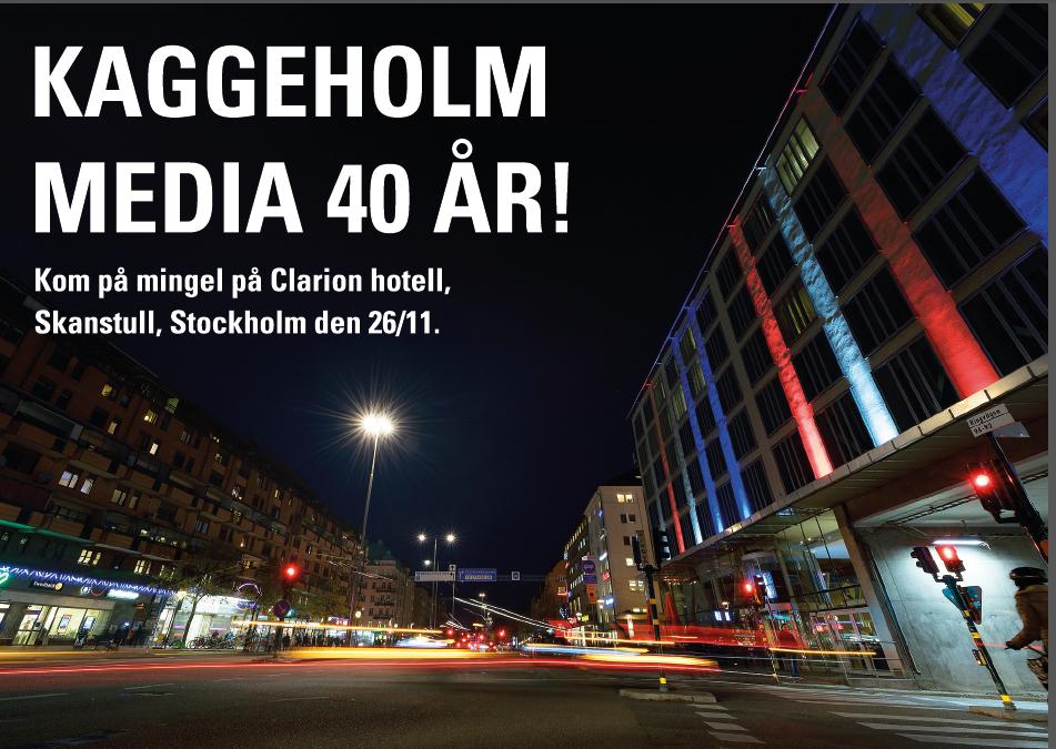 Medieutbildningarna firar 40 år – ta med klasskompisarna och kom och mingla på Hotell Clarion på Söder onsdagen 26 november från kl 18
