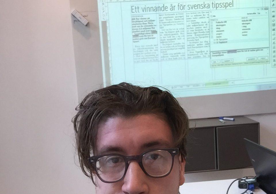 Praktik –  Följ Alexander på Skånska Dagbladet