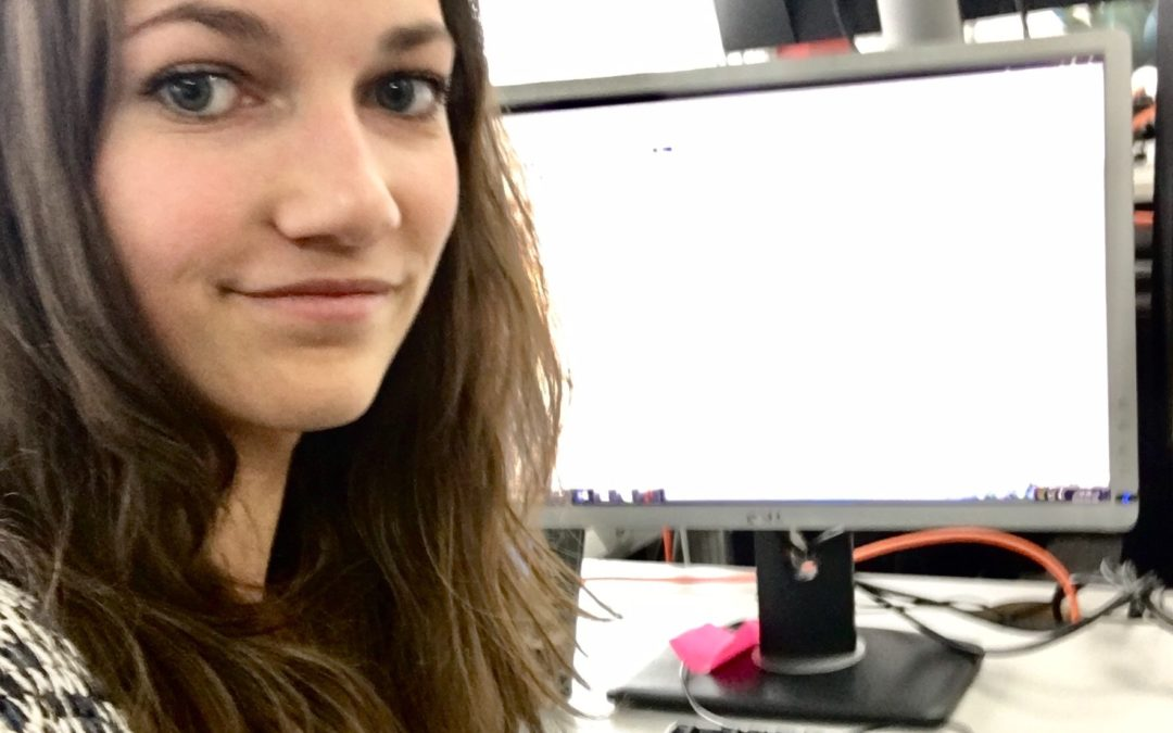 Följ Natalie på journalistpraktik på SVT Morgonstudion