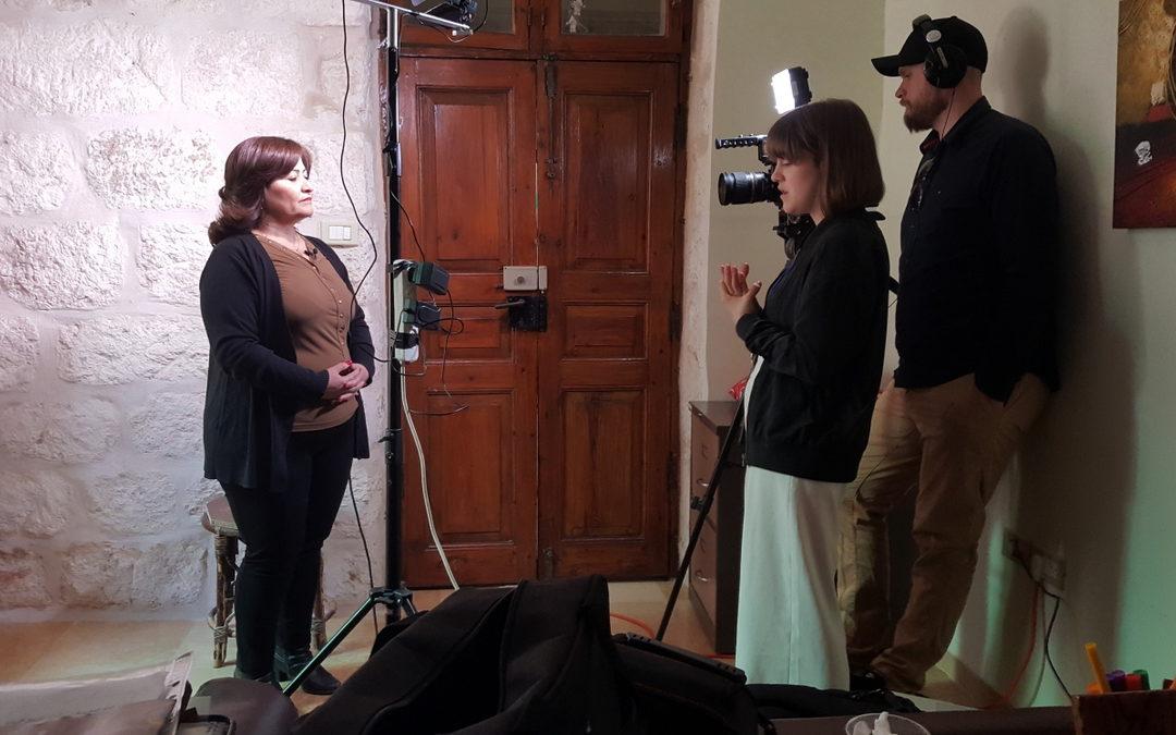 Medieelever gör film i Betlehem om arbete mot hedersvåld