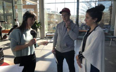Utesändning och direktintervjuer – följ Amanda på journalistpraktik på P4 Västmanland