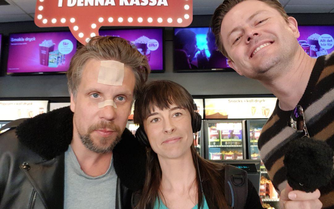 Filip & Fredrik – och Amanda, som gör journalistpraktik på P4 Västmanland.