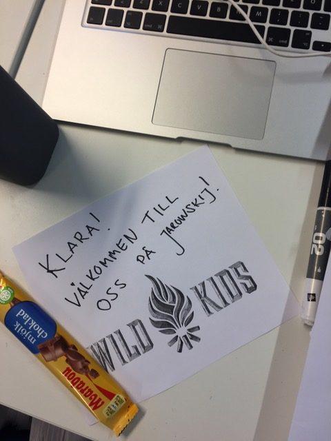 Av 6000 sökande barn blir 11 st utvalda – Klara berättar om sin nya praktikplats på Wild kids