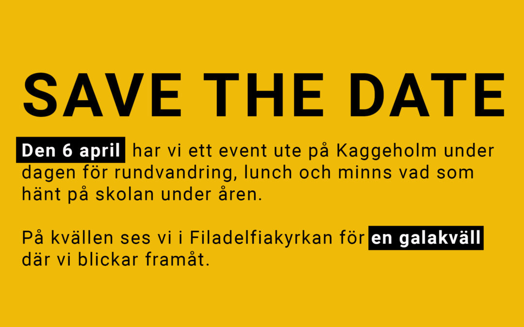 Event på Kaggeholm 6 april 2019