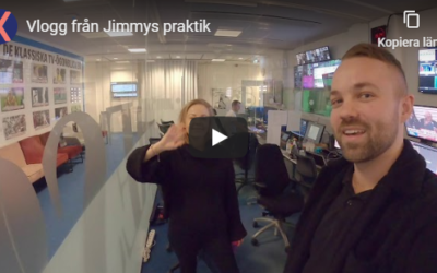 Praktikbloggen – Jimmy träffar en, två, tre, fyra kaggeholmare på Expressen-TV