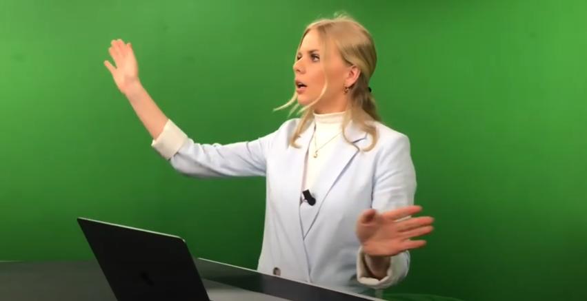 Praktikvloggen – se studion där Lina programleder Expressen TV