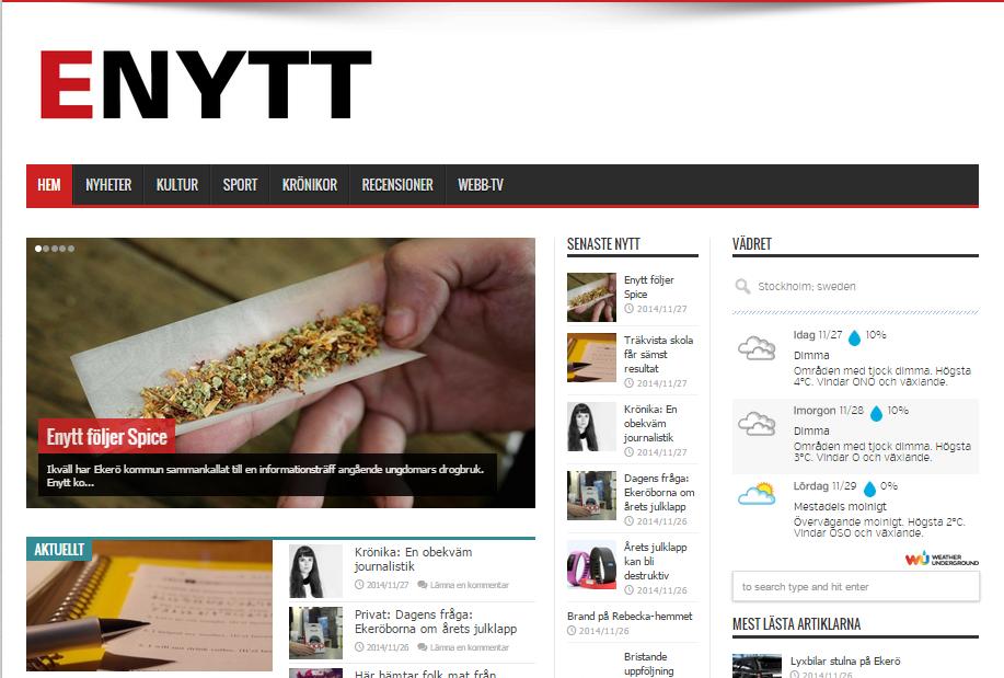 Spice, skolresultat och kastad mat – läs de senaste nyheterna på Ekerö på Enytt.com