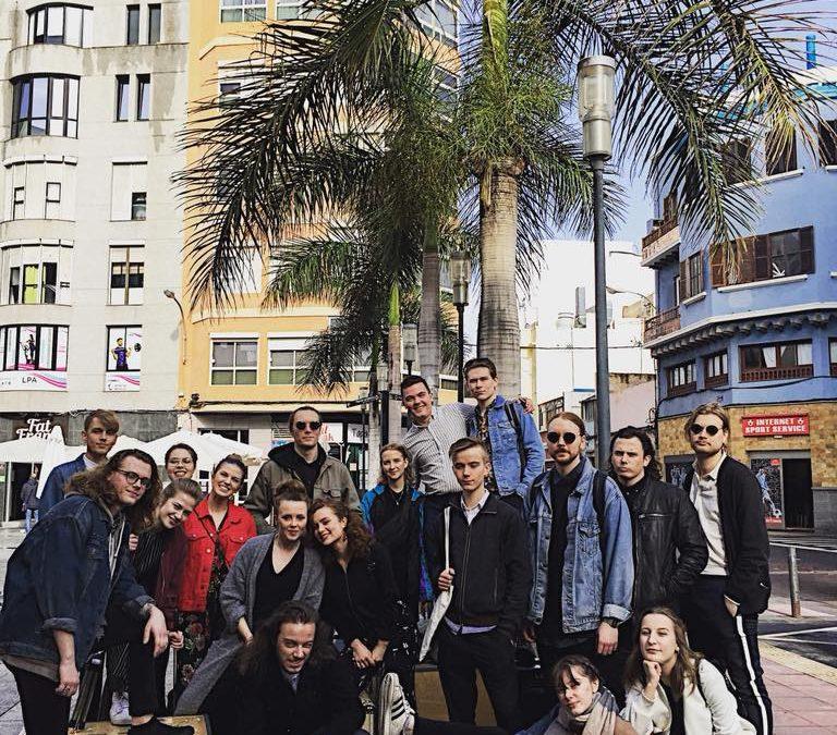 Musikeleverna på praktik i Gran Canaria