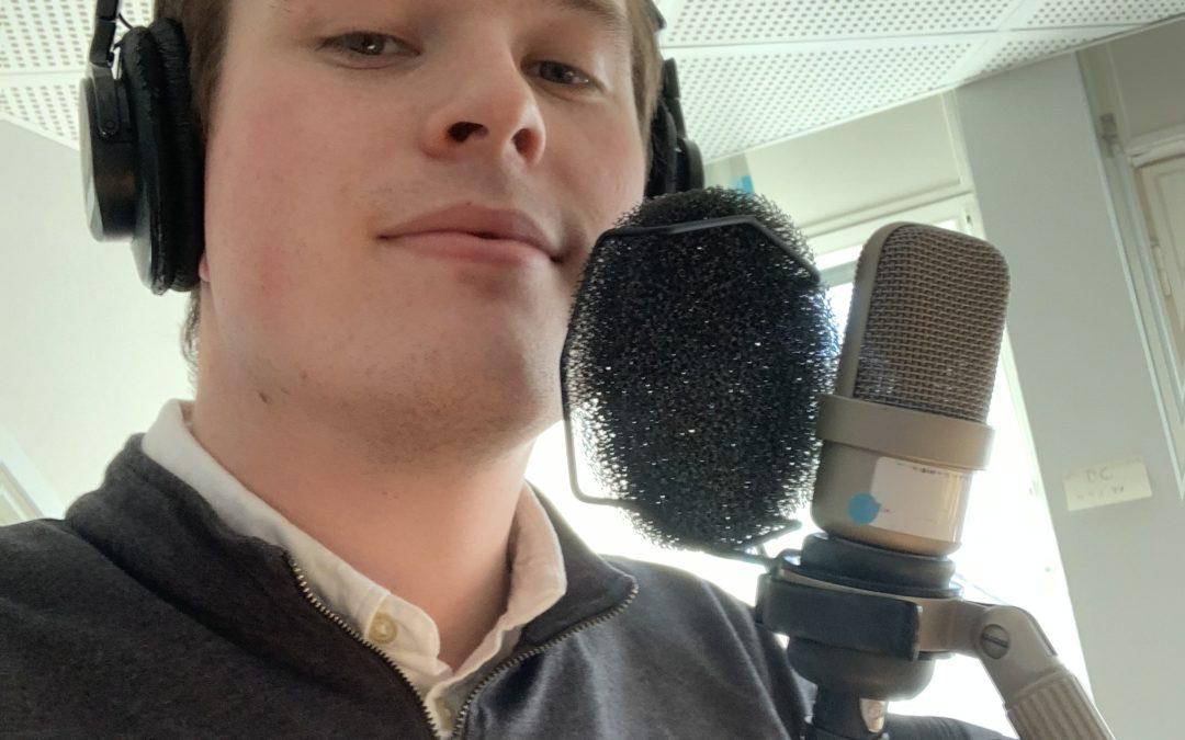 Praktikbloggen – följ August på Radiosporten