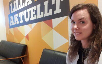 Sara praktiserar som reporter på SVT´s Lilla Sportspegeln